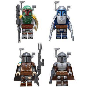 Boba Fett, Jango Fett, Mando w/ 2 Armors